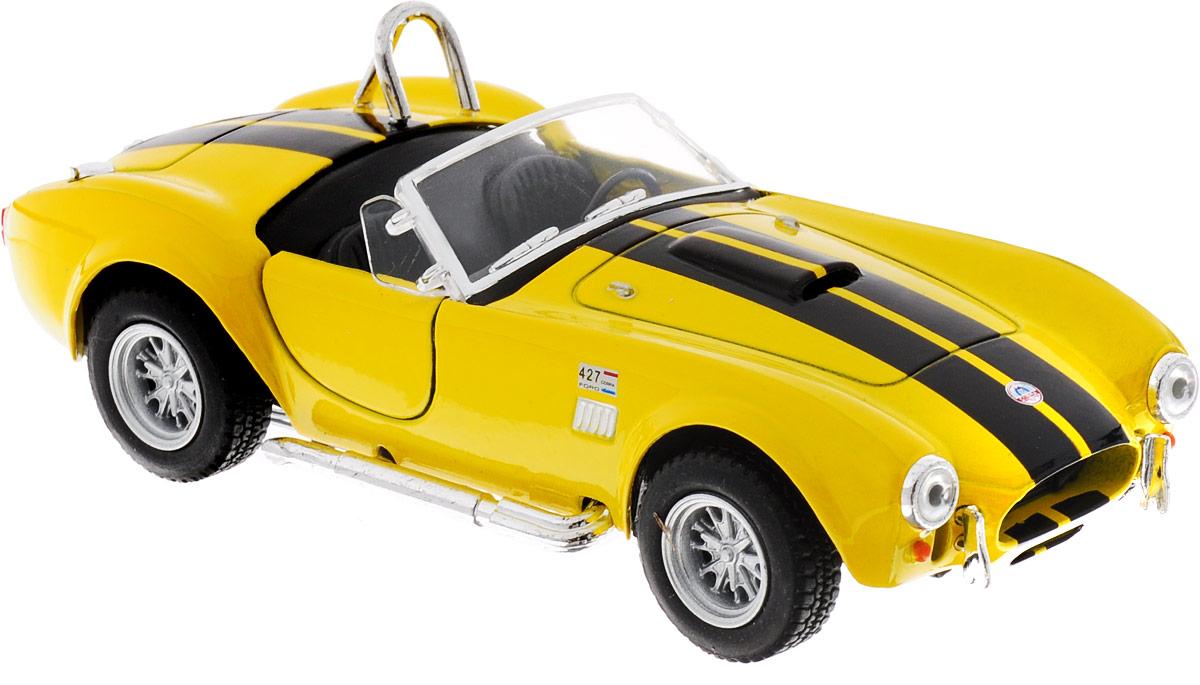 Фото Kinsmart Модель автомобиля Shelby Cobra 427 S/C 1965 цвет желтый. Купить  в РФ