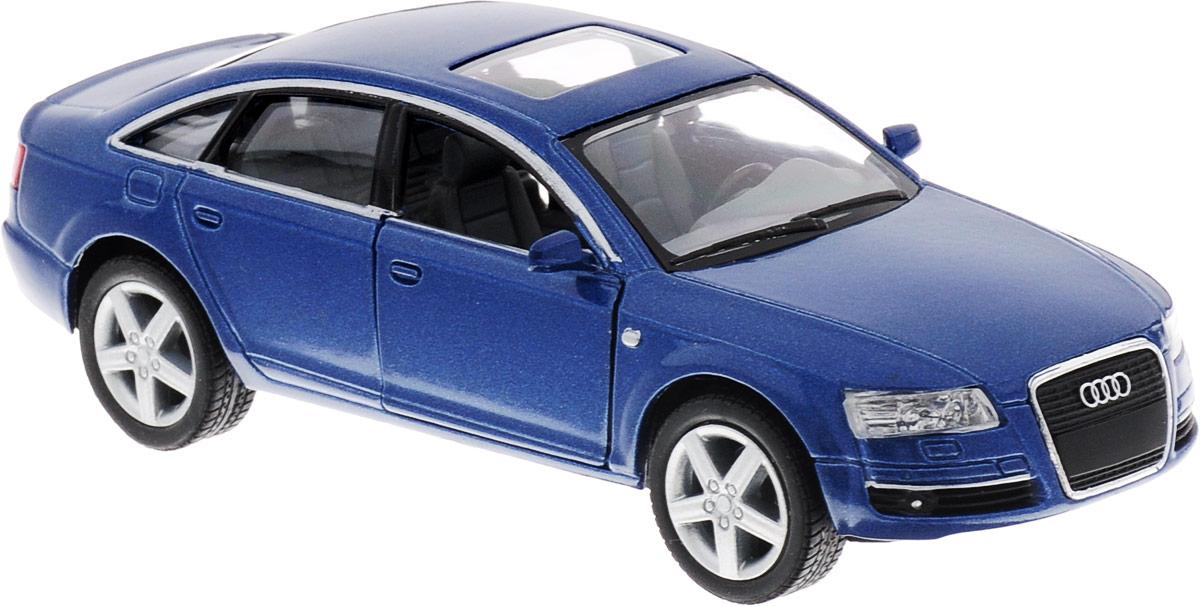 Фото Kinsmart Модель автомобиля Audi A6 цвет синий. Купить  в РФ