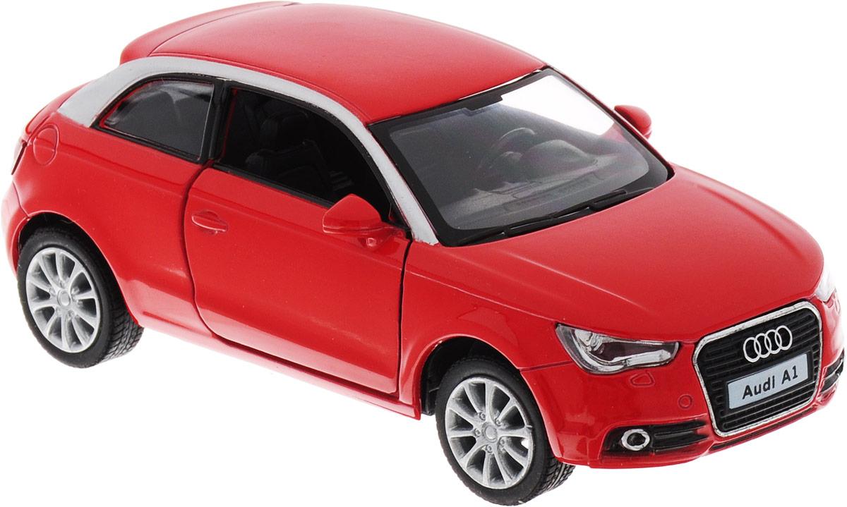 Фото Kinsmart Модель автомобиля Audi A1 2010 цвет красный. Купить  в РФ