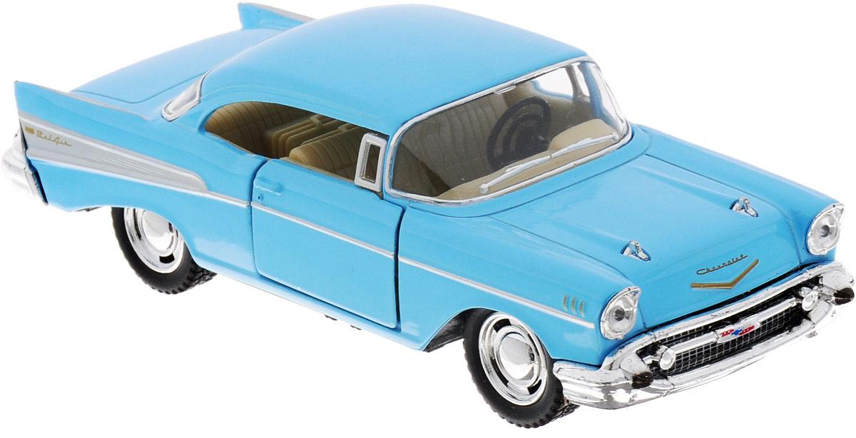 Фото Kinsmart Модель автомобиля Chevrolet Bel Air 1957 цвет голубой. Купить  в РФ