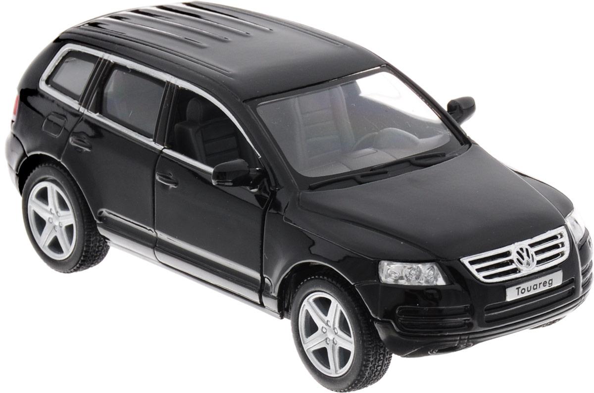 Фото Kinsmart Модель автомобиля Volkswagen Touareg 2003 цвет черный. Купить  в РФ