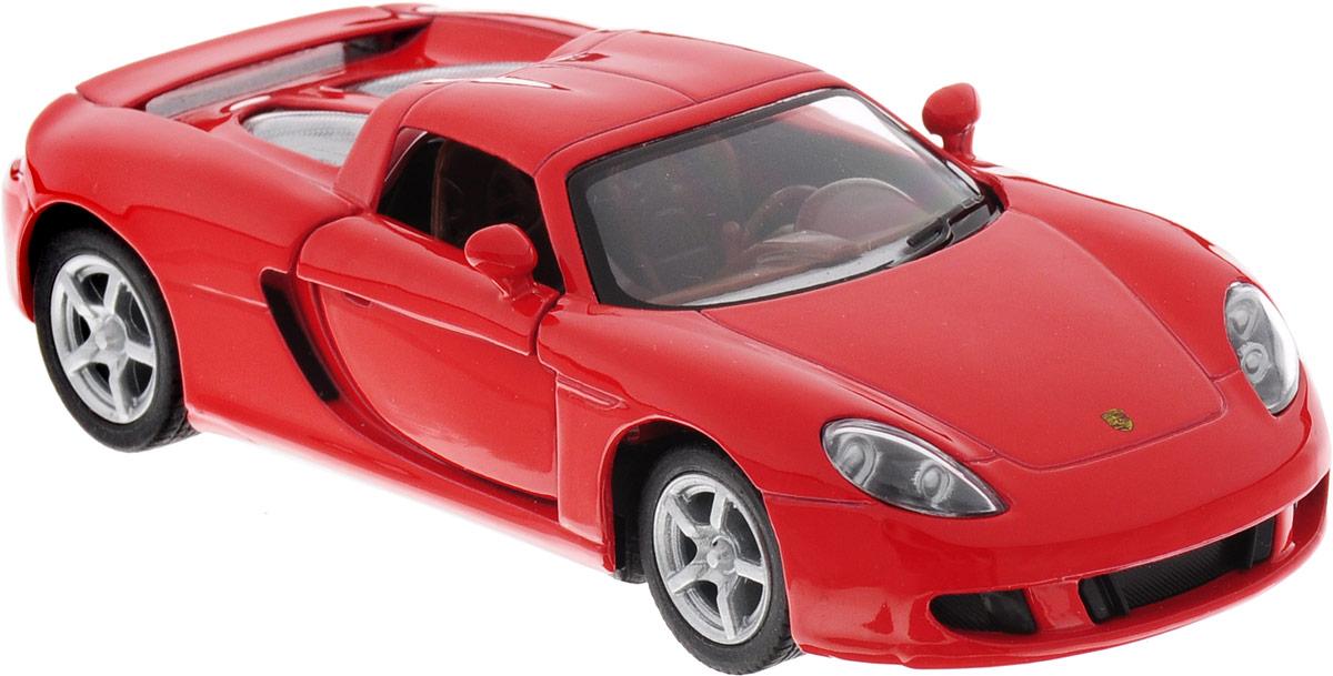 Фото Kinsmart Модель автомобиля Porsche Carrera GT цвет красный. Купить  в РФ