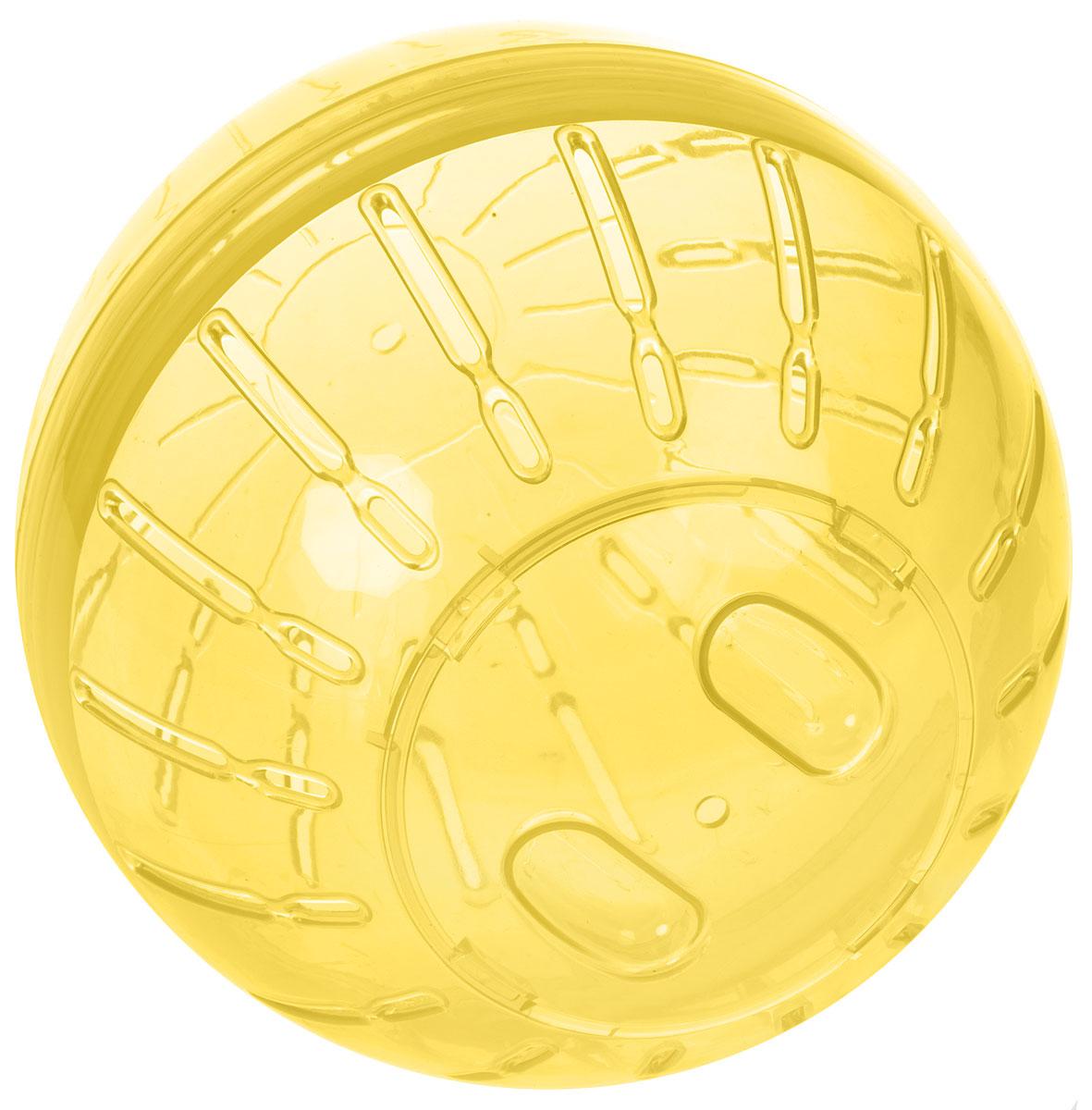Игрушка для грызунов Triol  Шар прогулочный , цвет: прозрачный желтый, диаметр 19 см