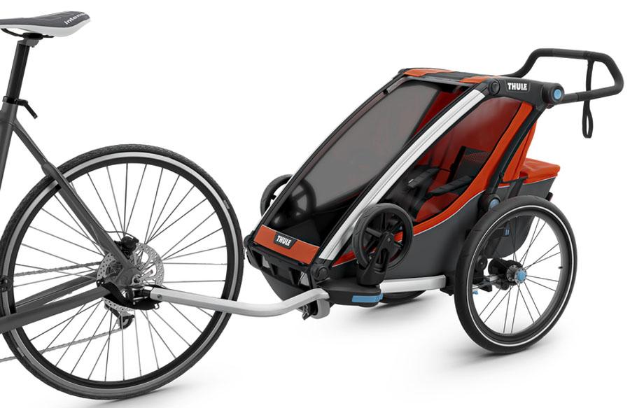 Thule Детская мультиспортивная коляска Chariot Cross 1 цвет темно-оранжевый -  Коляски и аксессуары
