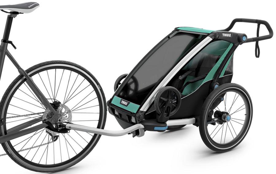 Thule Детская мультиспортивная коляска Chariot Lite 1 цвет изумрудный -  Коляски и аксессуары