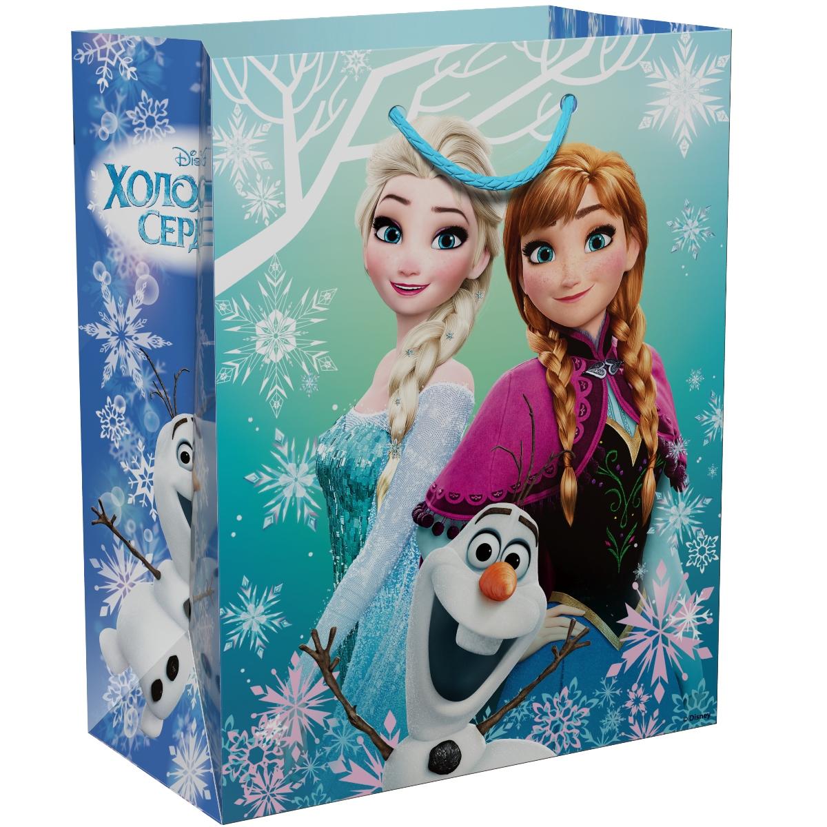 Disney Холодное Сердце Пакет подарочный 23 х 18 х 10 см -  Подарочная упаковка