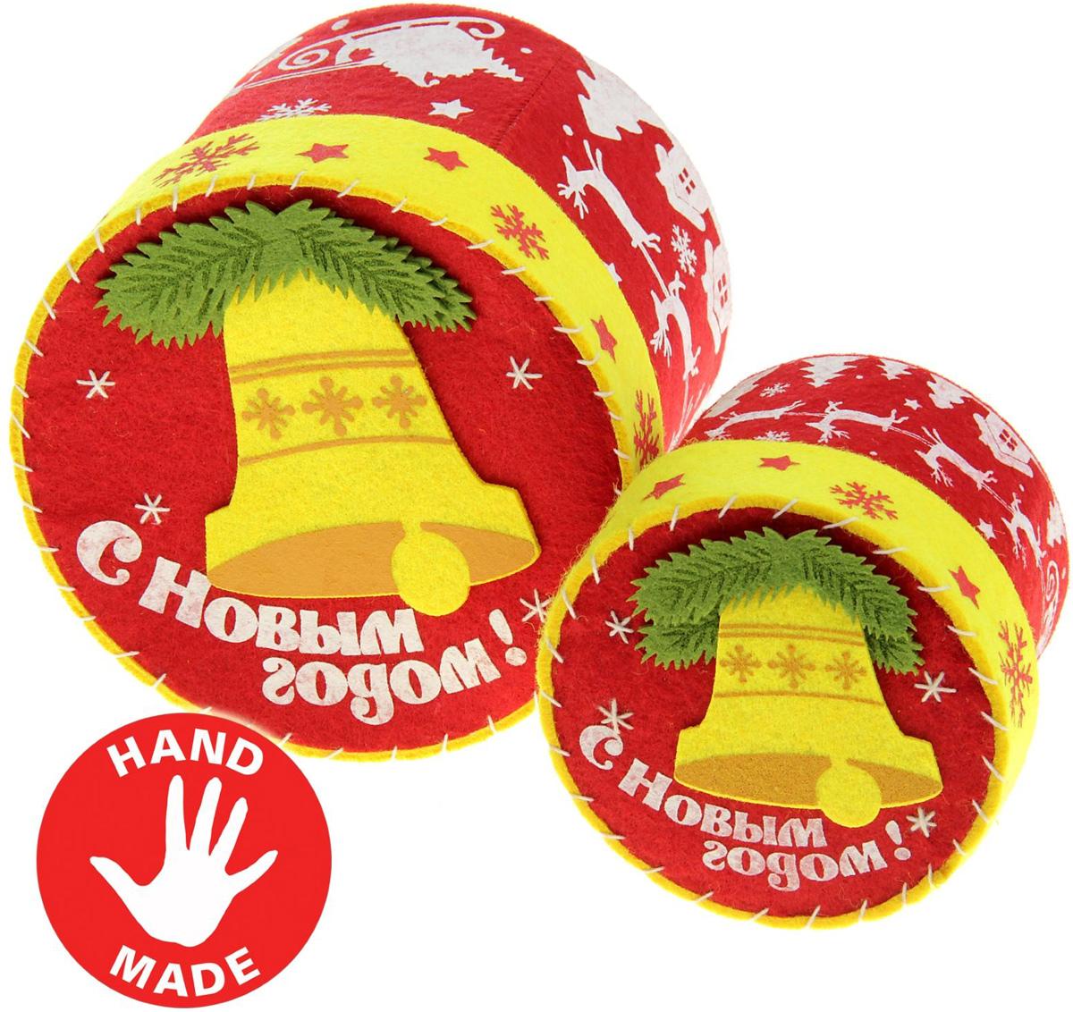 Коробочки для подарков из фетра своими руками