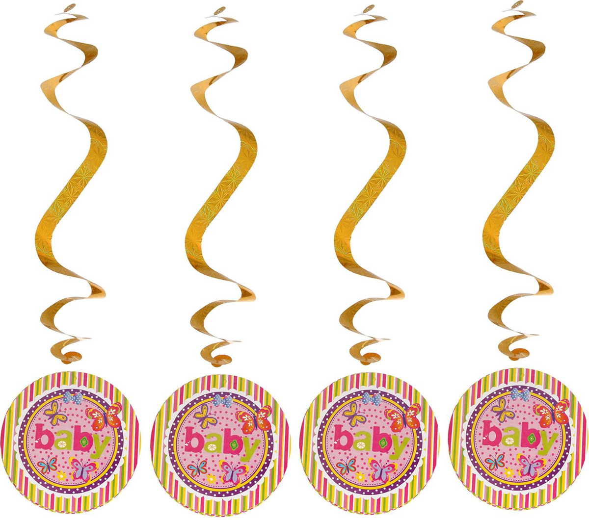 Страна Карнавалия Спираль серпантин Детский праздник для девочки набор 4 шт 1053277 -  Серпантин