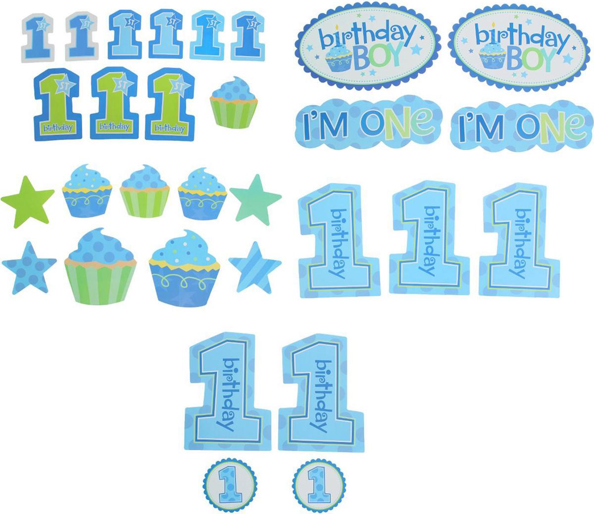 Страна Карнавалия Набор для декорирования праздника День рождение для мальчика -  Украшения для интерьера