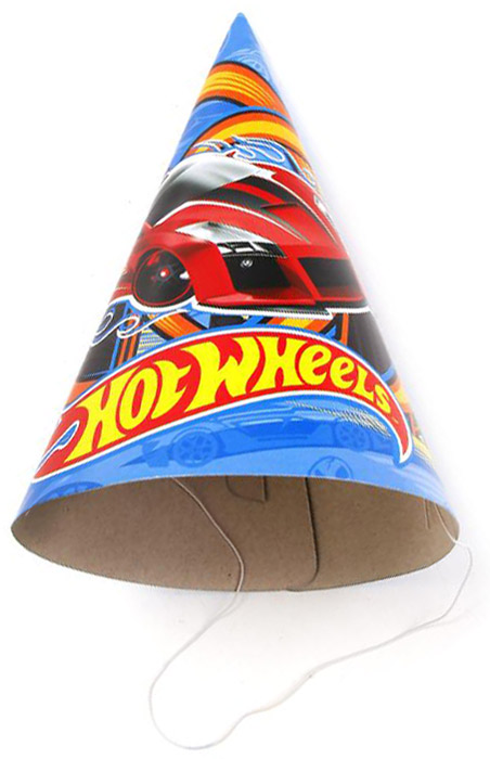 Веселый праздник Набор колпаков Hot Wheels 6 шт -  Колпаки и шляпы