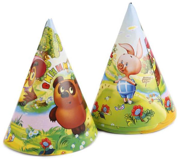 Веселый праздник Набор колпаков Винни Пух 6 шт -  Колпаки и шляпы