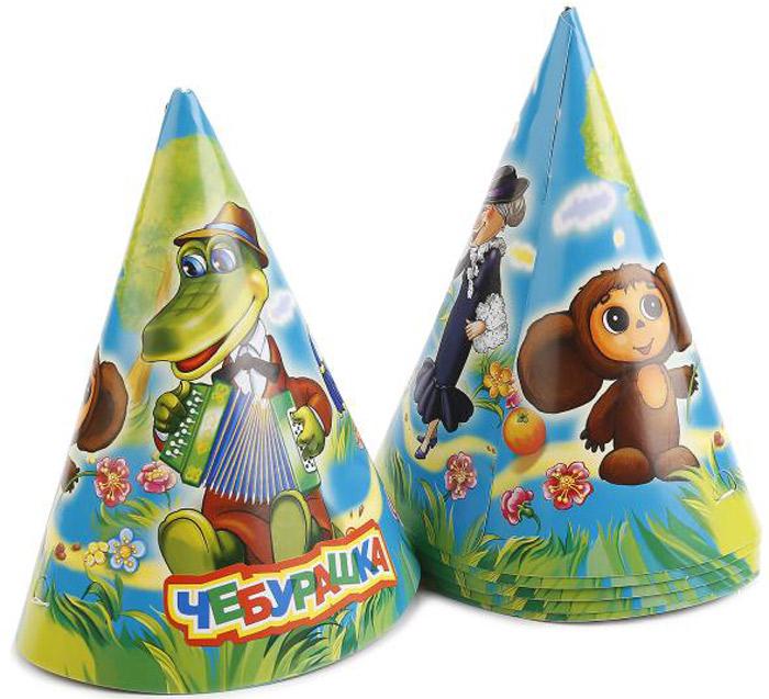 Веселый праздник Набор колпаков Чебурашка 6 шт -  Колпаки и шляпы