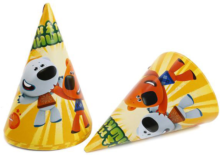 Веселый праздник Набор колпаков Ми-ми-мишки 6 шт -  Колпаки и шляпы