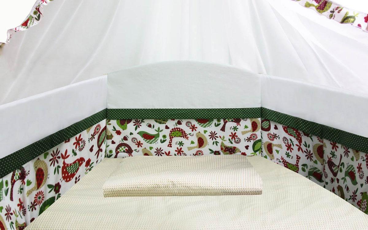 Polini Бортик для кровати Кантри цвет зеленый -  Бортики, бамперы
