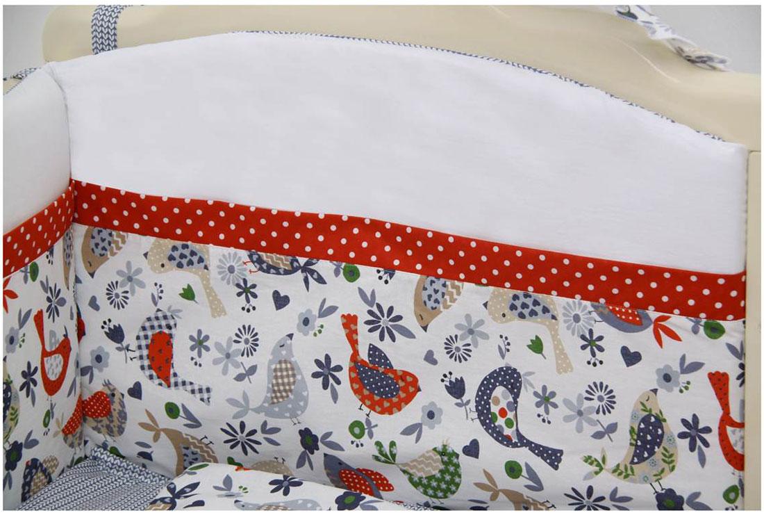 Polini Бортик для кровати Кантри цвет красный -  Бортики, бамперы