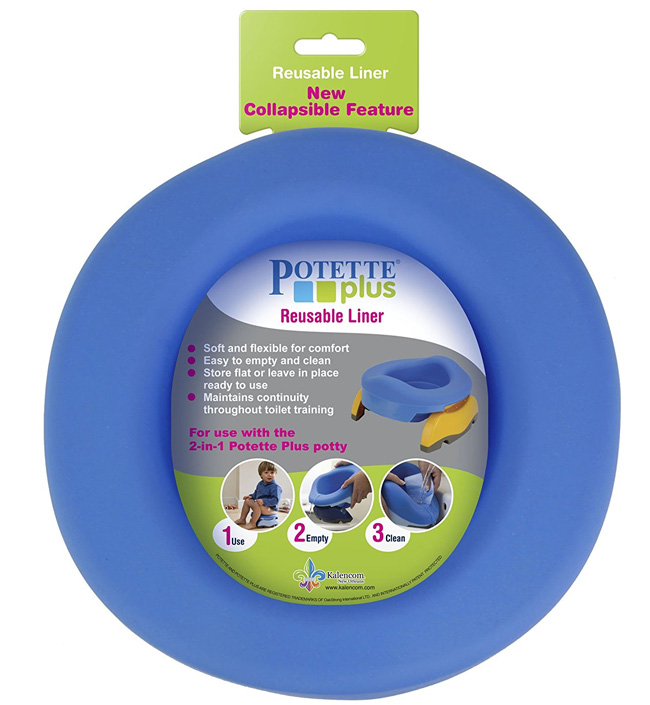Potette Plus Многоразовая телескопическая вставка -  Горшки и адаптеры для унитаза