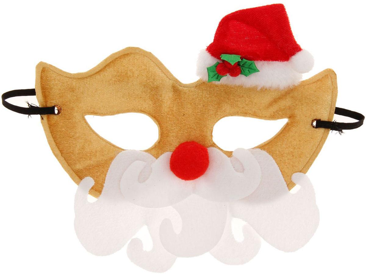 Маска карнавальная Страна Карнавалия  Дедушка Мороз  красный нос  -  Маски карнавальные