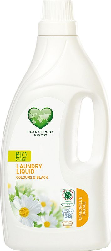 Средство для стирки  Planet Pure , для цветного и черного белья, 1,55 л