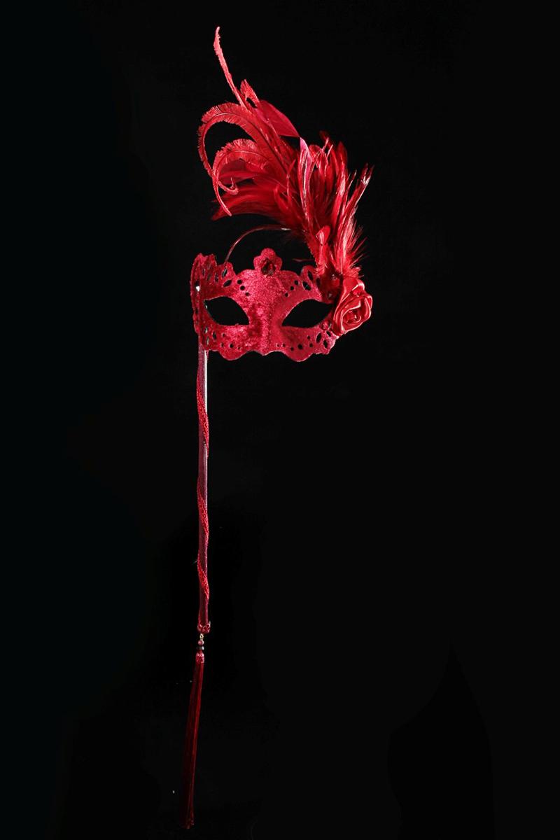 Маска карнавальная Bluemoon Venice  Cielo Mask Feather , 10 ? 18 ? 60 см -  Маски карнавальные