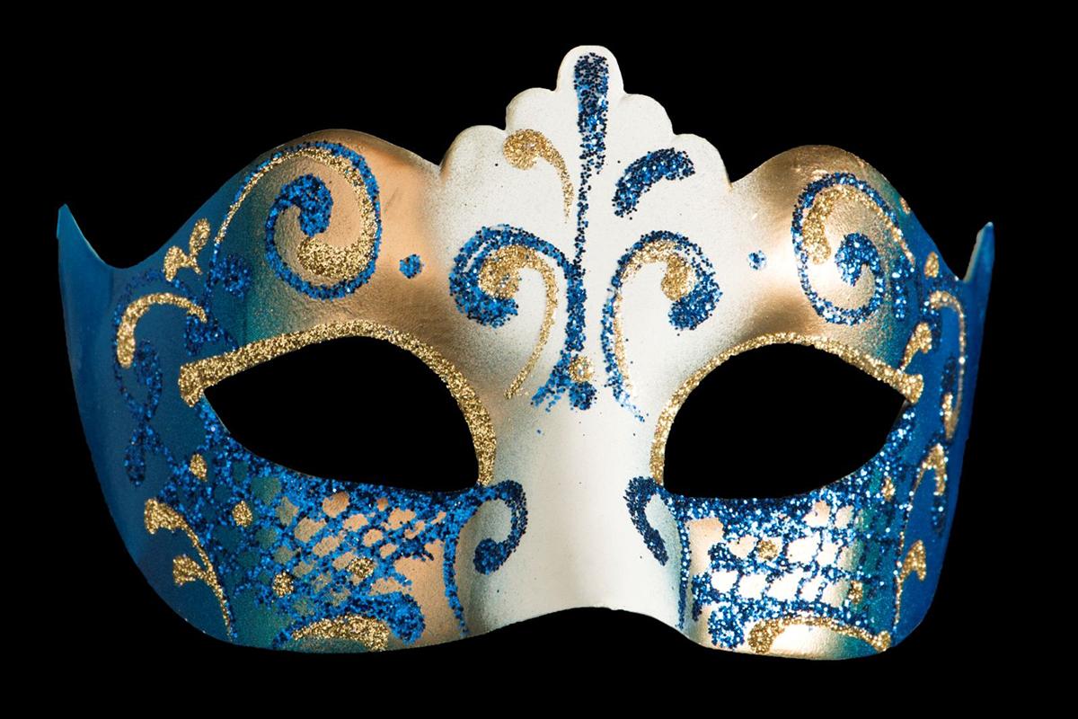 Маска карнавальная Bluemoon Venice  Colombina. Гжель , 10 х 17 х 10 см -  Маски карнавальные