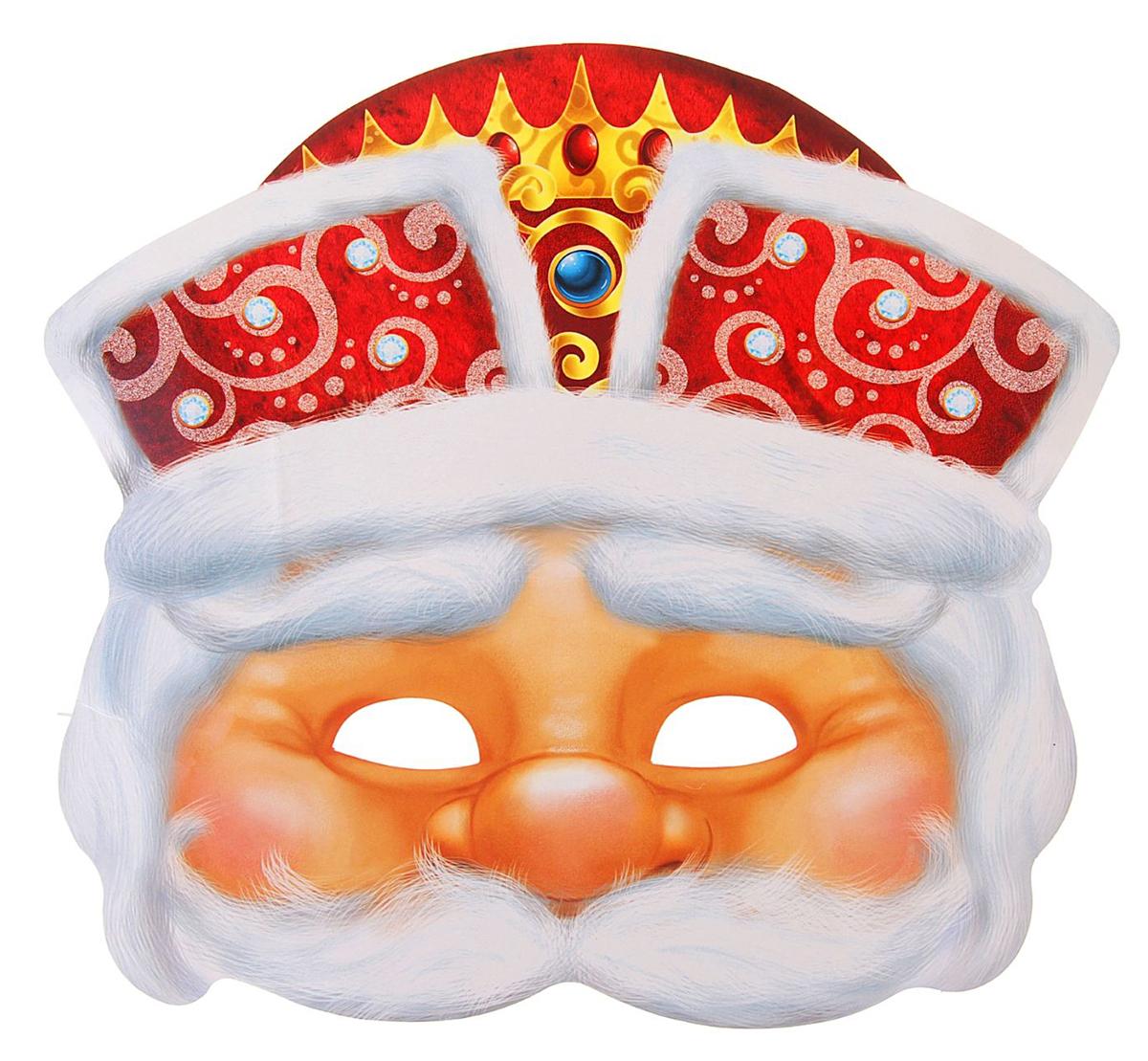 Маска карнавальная Страна Карнавалия  Дед Мороз , 26,5 х 23,9 см -  Маски карнавальные