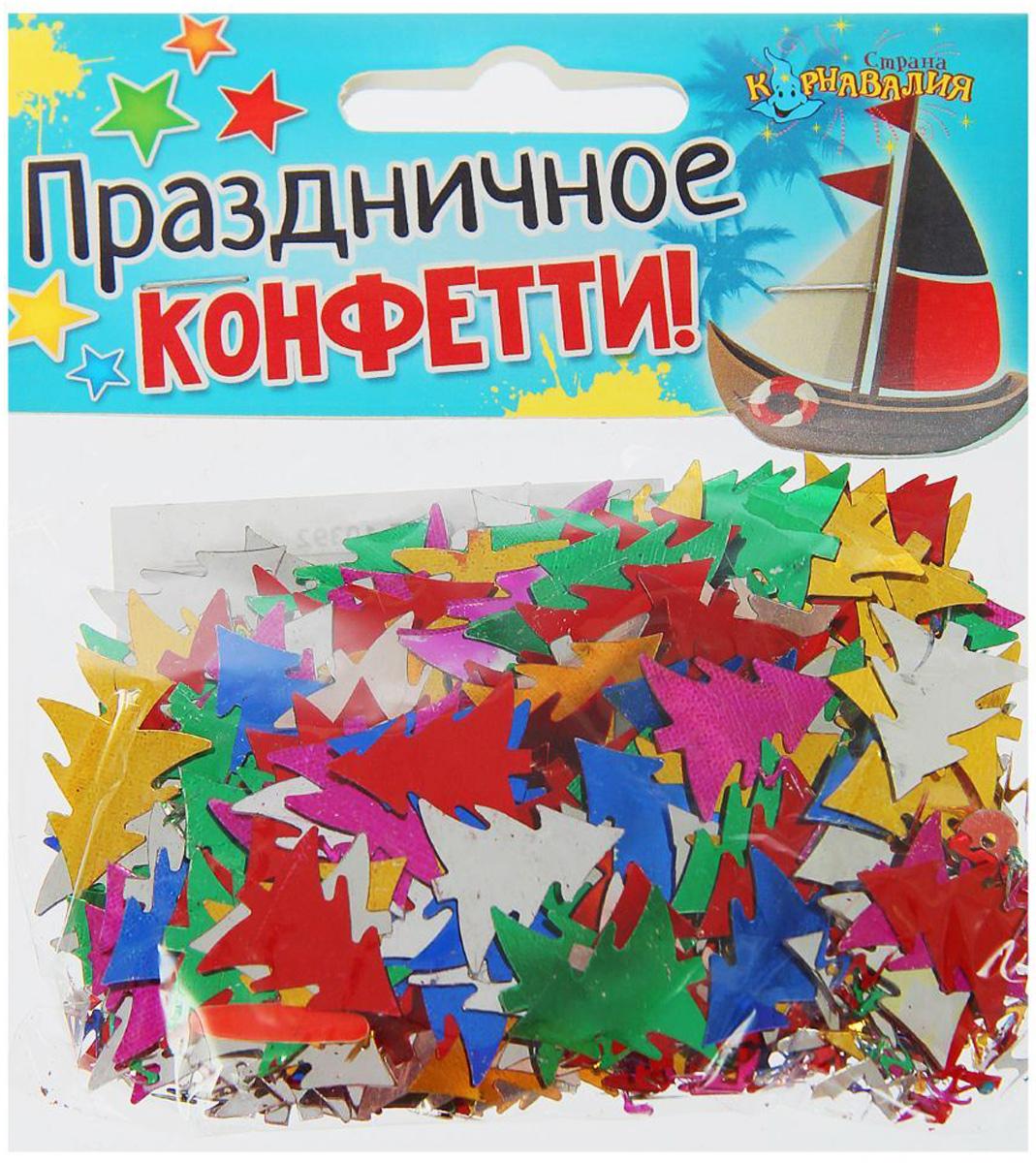 Конфетти Страна Карнавалия  Праздничное конфетти. Елочки , 14 г -  Конфетти