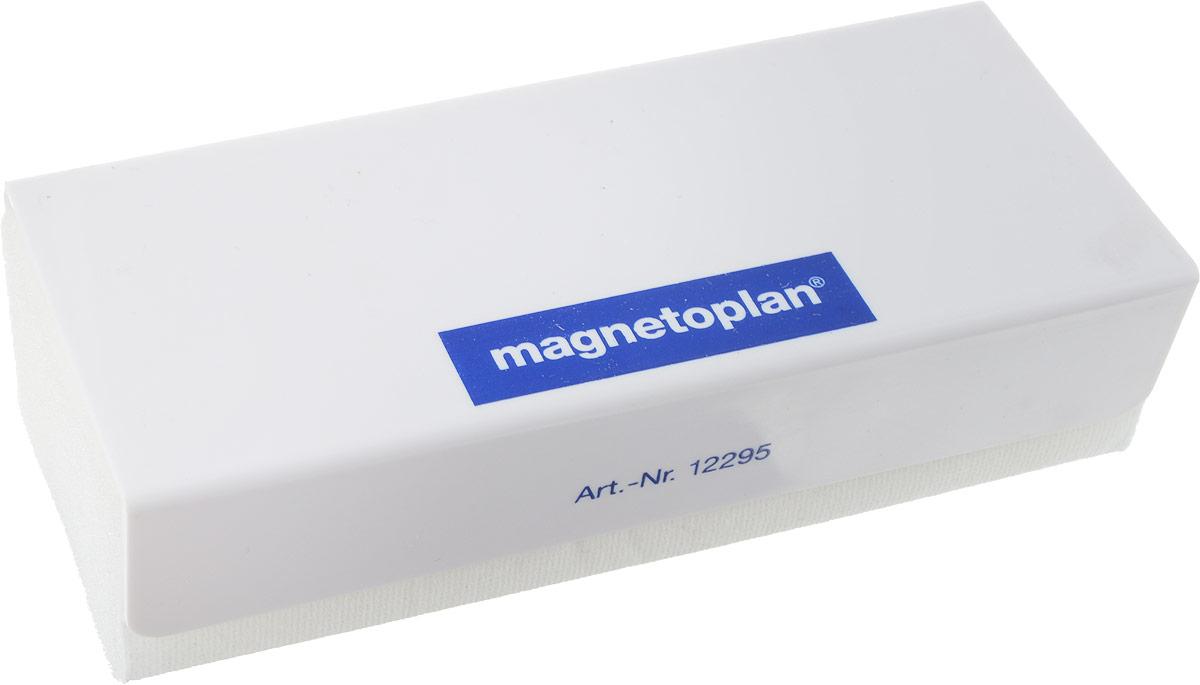 Magnetoplan Стиратель магнитный со сменными салфетками цвет белый -  Аксессуары для досок и флипчартов