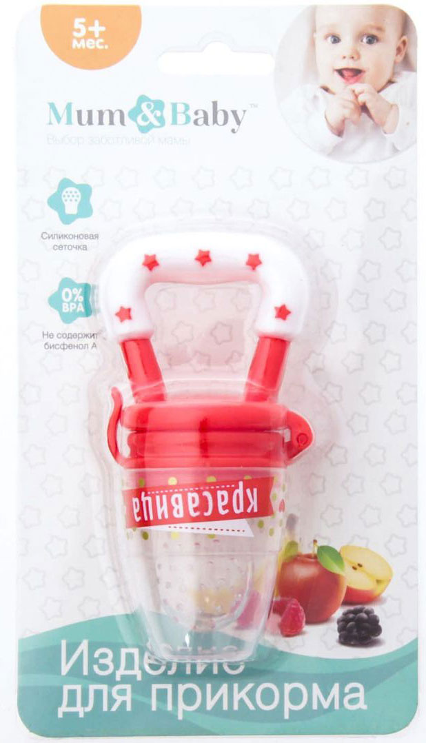 Mum&Baby Ниблер Красавица цвет красный -  Все для детского кормления