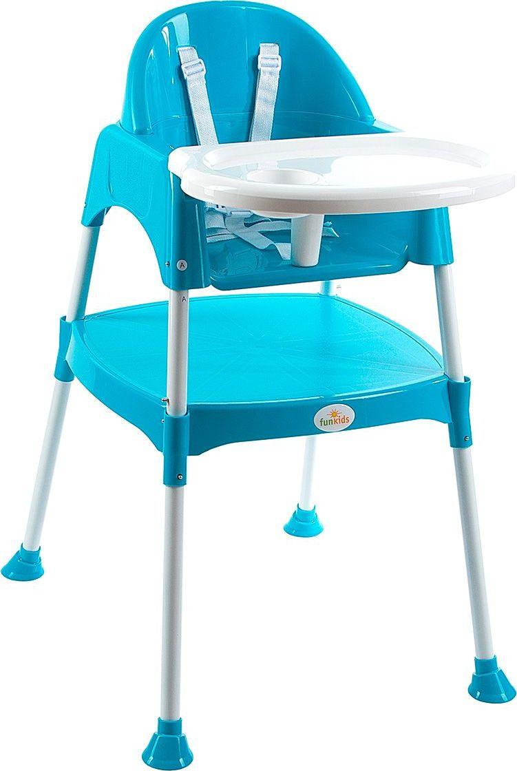 Funkids Стульчик для кормления Eat And Play 2 в 1 цвет синий -  Стульчики для кормления