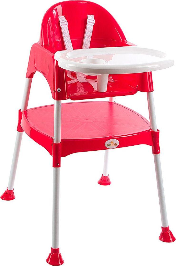 Funkids Стульчик для кормления Eat And Play 2 в 1 цвет красный -  Стульчики для кормления