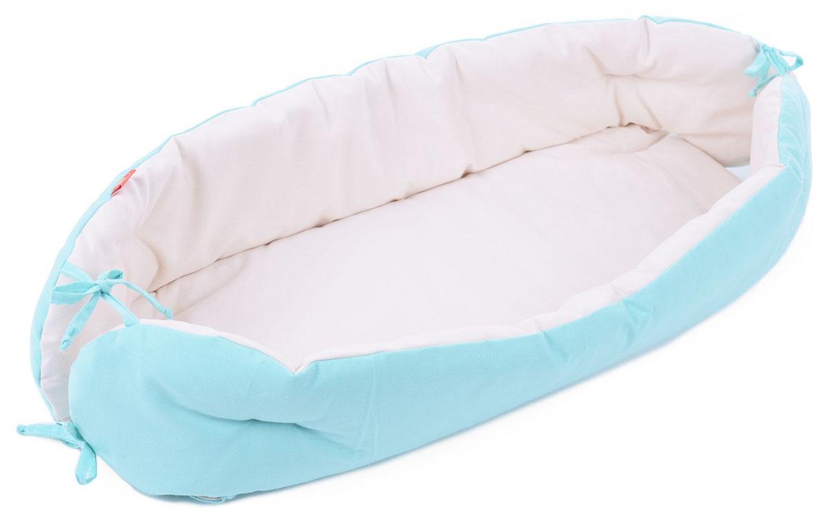 HoneyMammy Кокон для новорожденного для совместного сна цвет бирюзовый -  Позиционеры, матрасы для пеленания