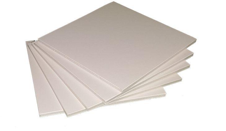 Пенокартон  Decoriton , цвет: белый, толщина 0,5 см, плотность 640гр/м2, 30 х 40 см, набор 5 шт -  Бумага и картон