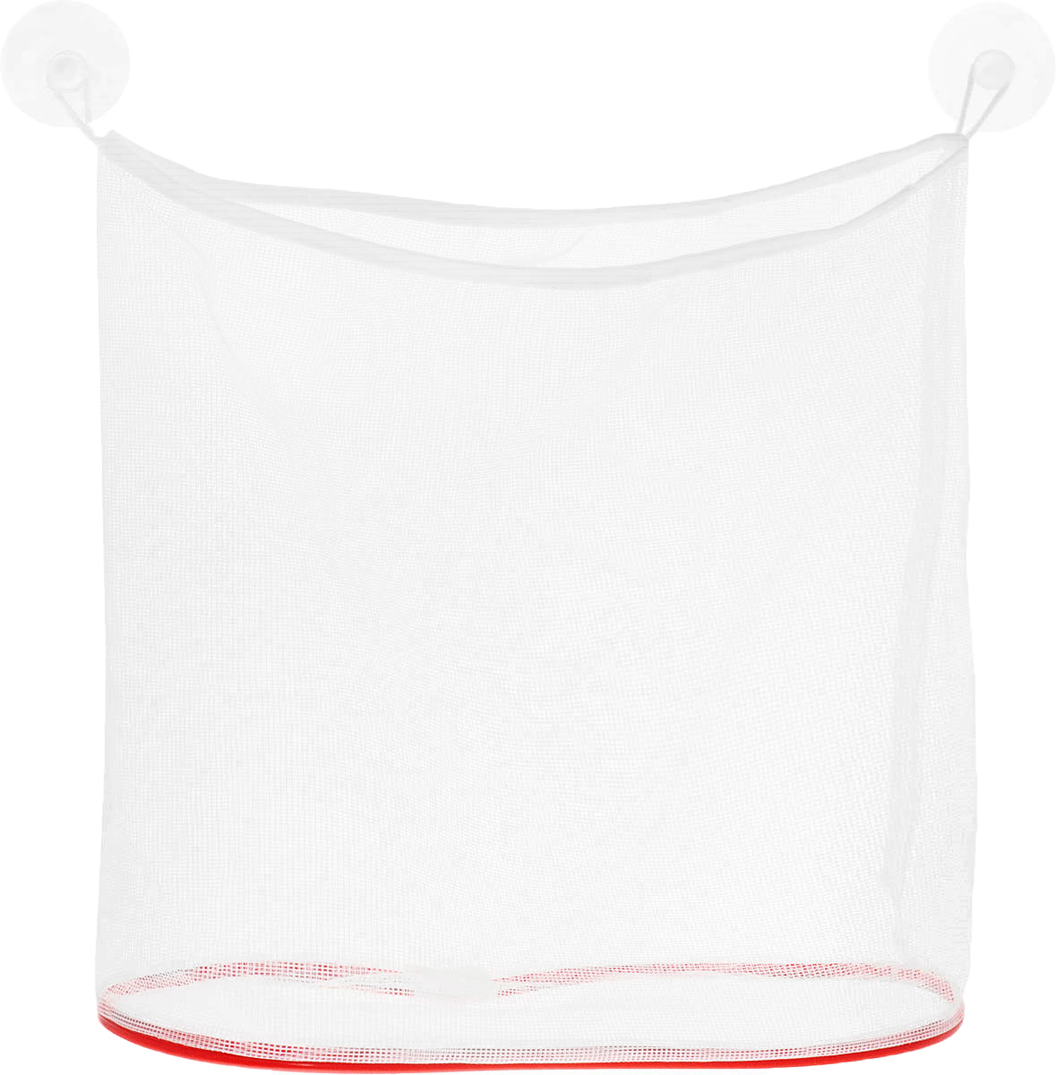 Eva Сетка для игрушек и мелочей в ванную цвет красный белый -  Все для купания