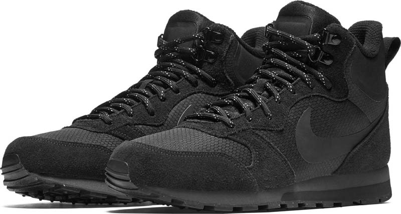Кроссовки мужские Nike MD Runner 2 Mid Premium Shoe, цвет  черный.  844864-004. Размер 11 (44) 69d8fc99791