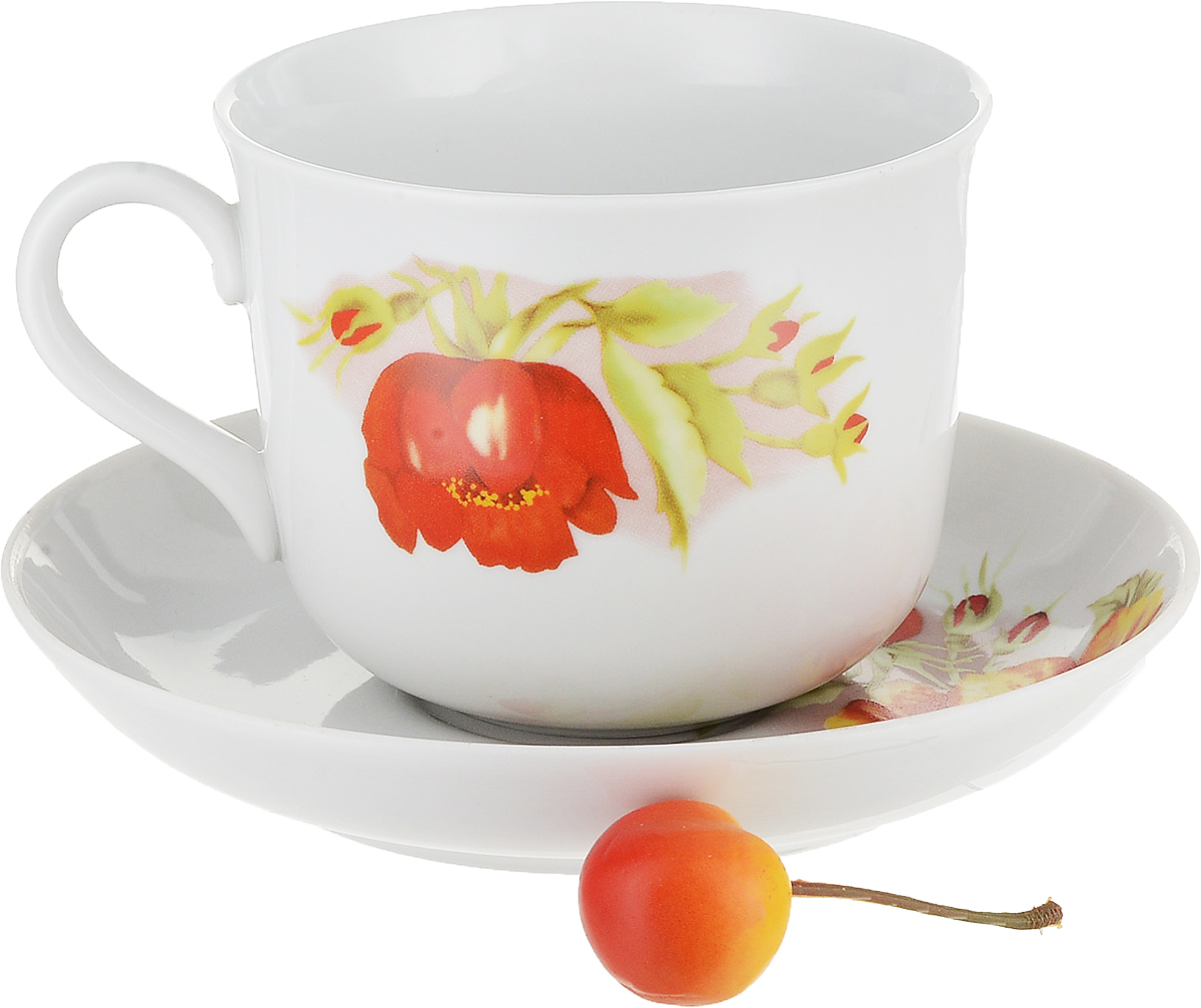 Цветок чашка с блюдцем