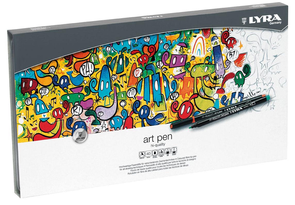 Набор фломастеров Lyra  Hi-Quality Art Pen , 40 шт, вид 2 -  Фломастеры