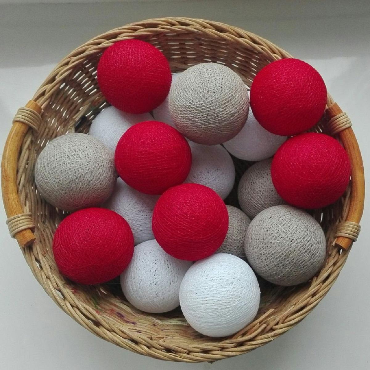 Гирлянда из ниточных шаров своими руками
