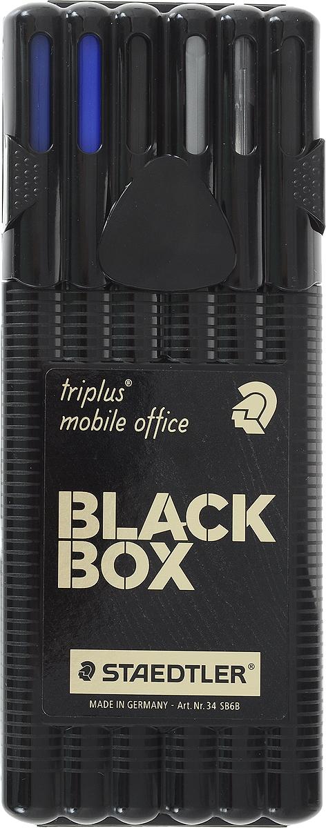 Staedtler Набор пишущих принадлежностей Triplus Mobil Black 6 предметов -  Наборы письменных принадлежностей