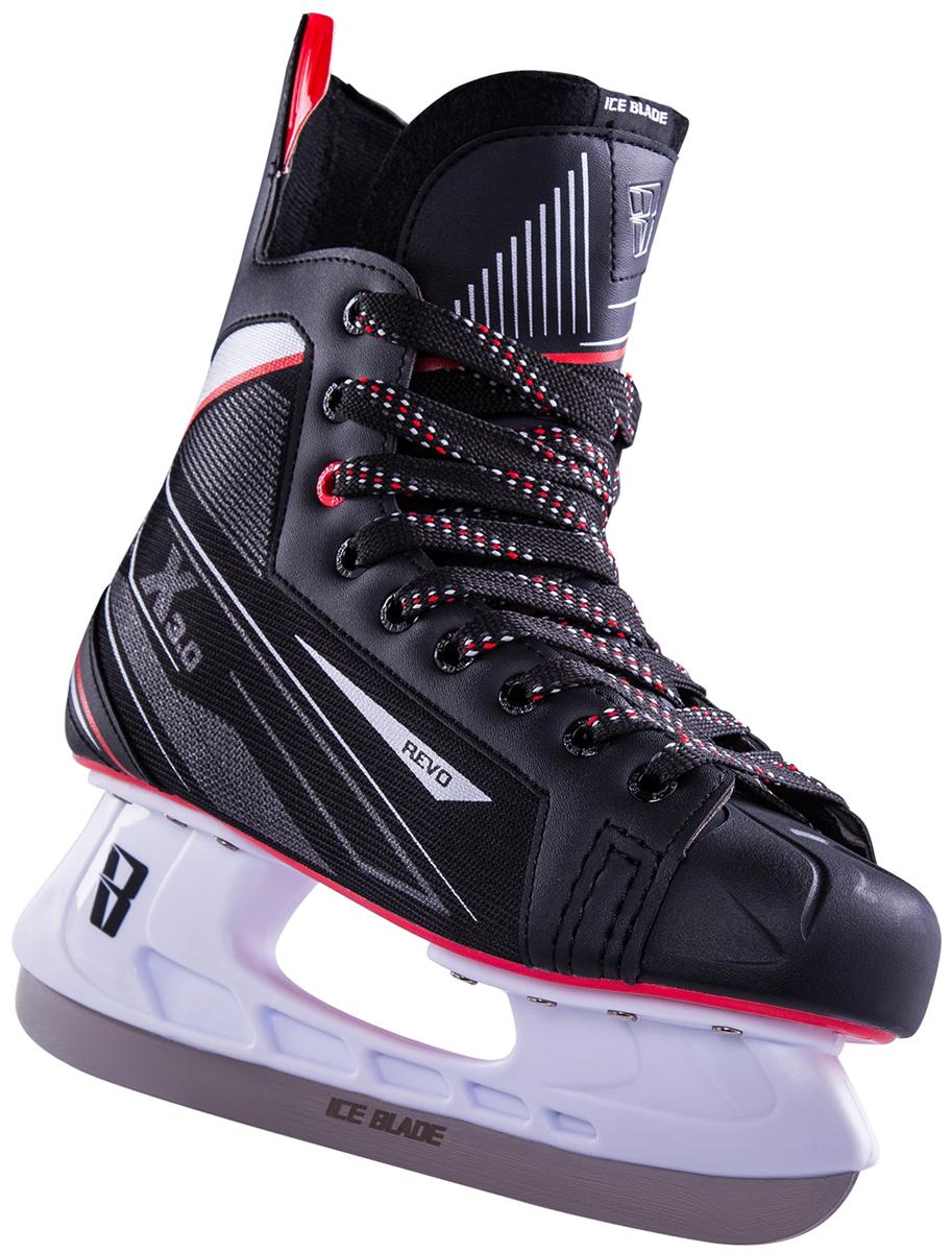 """Коньки хоккейные мужские Ice Blade """"Revo"""", цвет: черный, красный. Размер 40"""