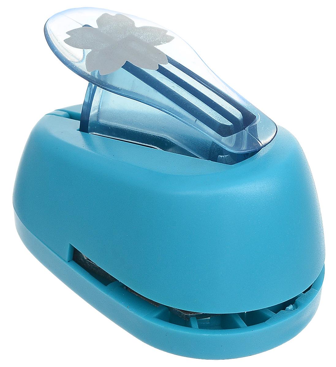 Дырокол фигурный Hobbyboom  Лотос , №4, цвет: голубой, 2,5 см -  Степлеры, дыроколы