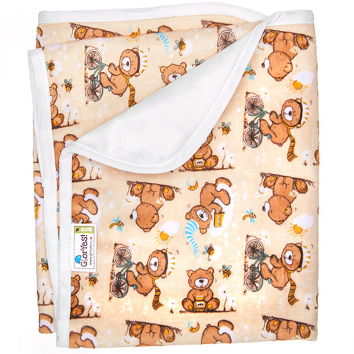 GlorYes! Непромокаемая пеленка Медвежонок 80 х 68 см -  Подгузники и пеленки