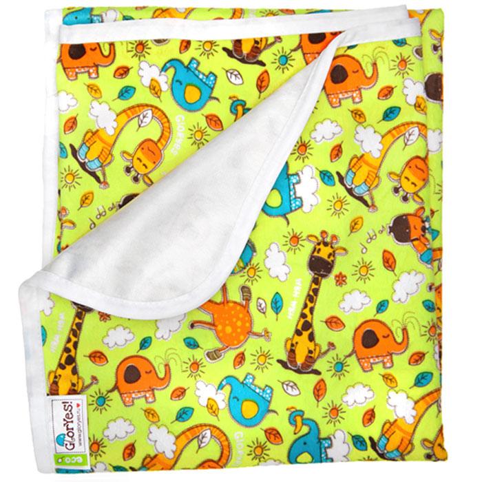 GlorYes! Непромокаемая пеленка Жирафы 80 х 68 см -  Подгузники и пеленки