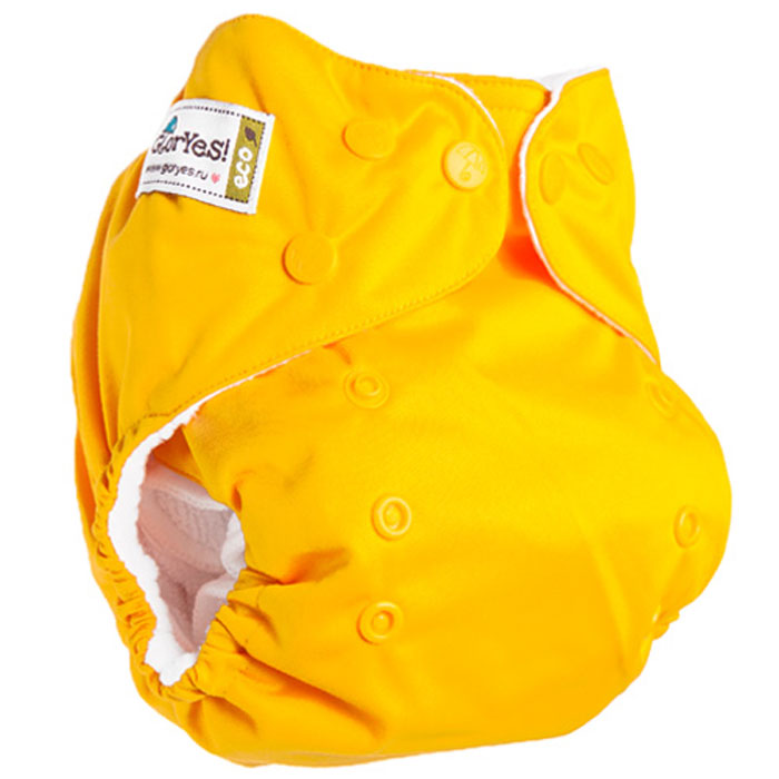 GlorYes! Многоразовый подгузник Classic Банан 3-15 кг + один вкладыш -  Подгузники и пеленки
