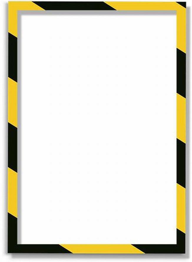 Магнитная защитная слайд-рамка для предупреждающих знаков цвет желто-черная 5 шт -  Аксессуары для досок и флипчартов
