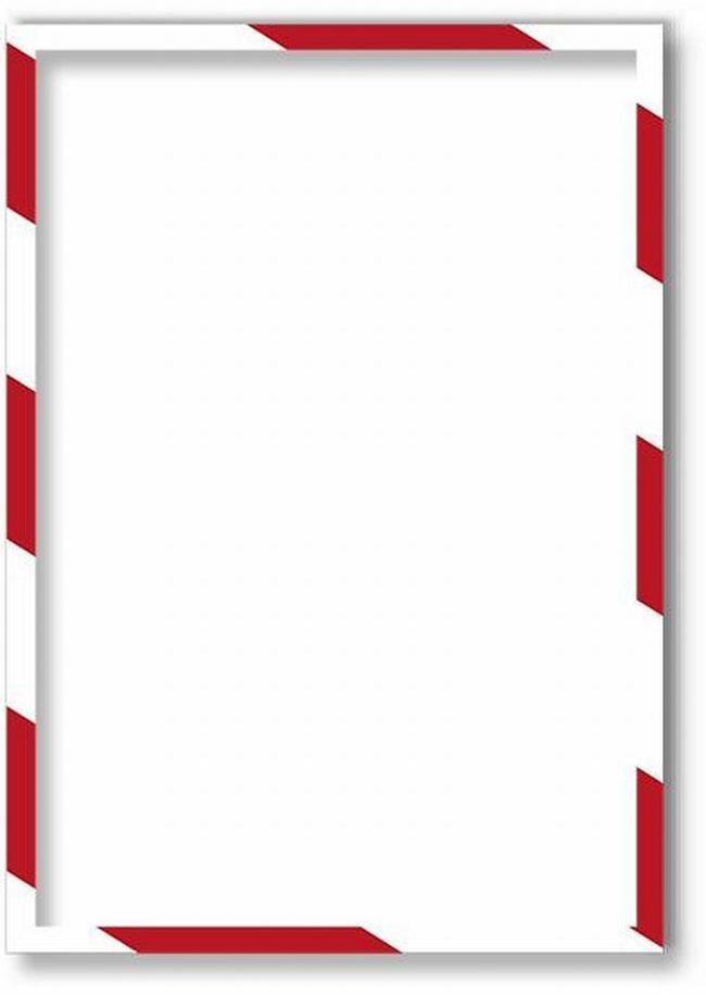Магнитная защитная слайд-рамка для предупреждающих знаков цвет бело-зеленая 5 шт -  Аксессуары для досок и флипчартов