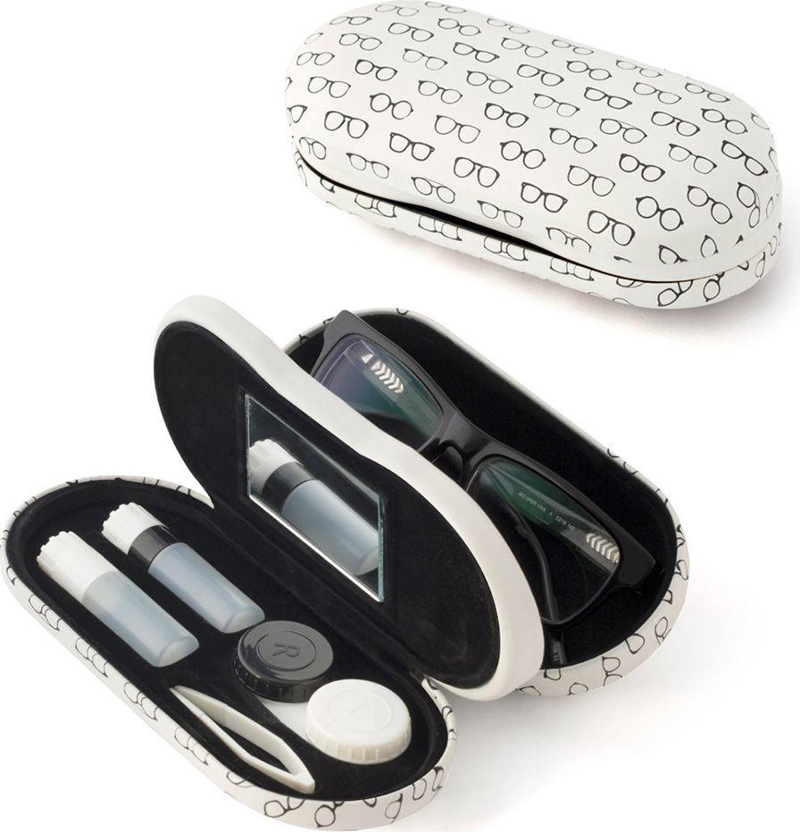 Balvi Футляр для очков и контактных линз Twin Pattern, цвет: коричневый - Аксессуары для контактных линз