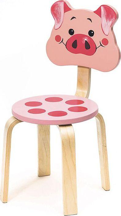 Крошка.RU Мордочки Стул детский Поросенок цвет розовый -  Детская комната