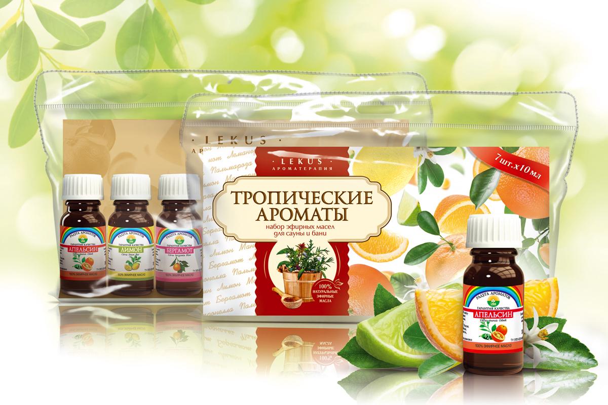 Баня манит всех Набор эфирных масел Тропические ароматы №1