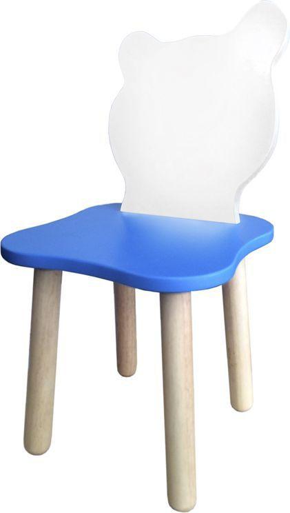 Крошка.RU Джери Стул детский цвет белый голубой -  Детская комната
