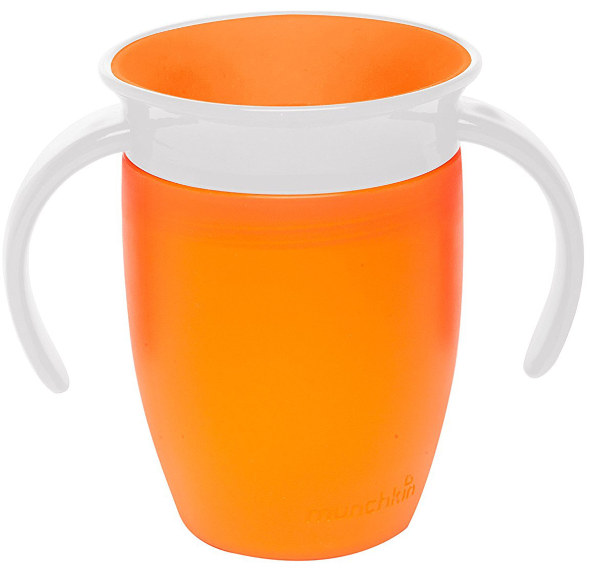 Munchkin Поильник-непроливайка Miracle 360° цвет оранжевый от 6 месяцев 207 мл -  Поильники